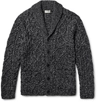 Club Monaco Shawl Collar Cable Knit Cardigan Anthracite