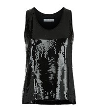 Max Mara Sequin Tank Top Female Black