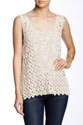 Angie Crochet Low Armhole Tank White