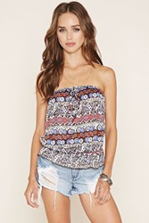 Forever 21 Geo Print Tube Top