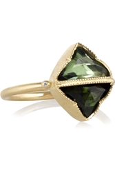 Brooke Gregson 14 Karat Gold Tourmaline And Diamond Ring
