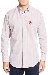 Men's Thomas Dean 'Oklahoma Sooners' Regular Fit Long Sleeve Tattersall Sport Shirt