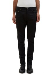 Saint Laurent 5 Pocket Raw Edge Skinny Jeans