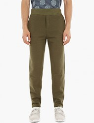 A.P.C. Green Cotton Flint Sweatpants