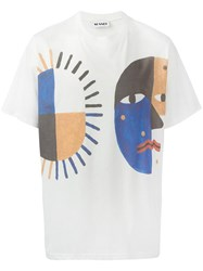 Sunnei Abstract Print T Shirt White