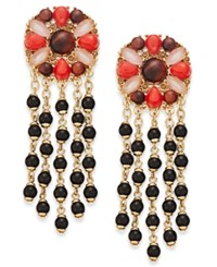 Kate Spade New York Burst Into Bloom Gold Tone Stone Chandelier Earrings Multi