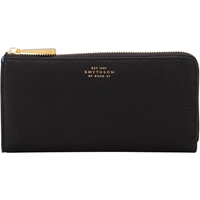 Smythson Large Eliot Slim Wallet Black