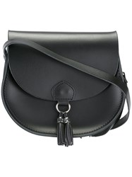The Cambridge Satchel Company Tassel Detail Saddle Bag Black