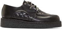Underground Black Quilted Leather Wulfrun Creepers
