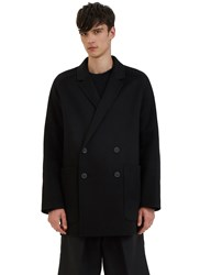 Acne Studios Martin Oversized Double Breasted Wool Coat Black