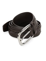 Brioni Italian Leather Belt Brown