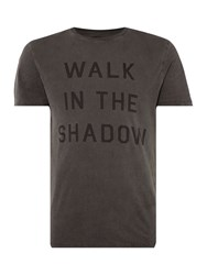 Label Lab Walk In The Shadow Graphic Tee Black