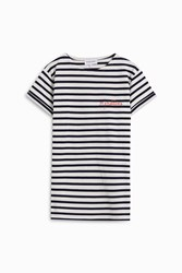 Maison Labiche Striped 99 Problems T Shirt White