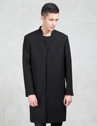 Lad Musician Wool Gabardine Long Coat
