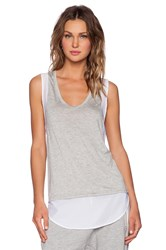 Shades Of Grey Racerback Shirttail Tank Gray
