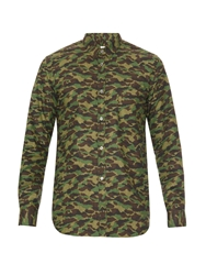 Golden Goose Camouflage Print Cotton Shirt