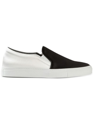 Joshua Sanders Satin Panelled Slip On Sneakers Black