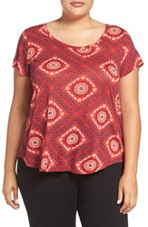 Lucky Brand Plus Size Women's Tile Print Tee