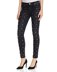 True Religion Halle Studded Super Skinny Jeans In Black Moon Stone