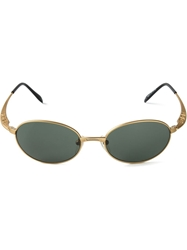 Jean Paul Gaultier Vault Oval Frame Sunglasses Metallic