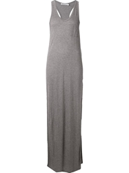 T By Alexander Wang Long Tank Dress Grey