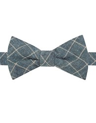 William Rast Samson Tatersall Plaid Bow Tie Aqua