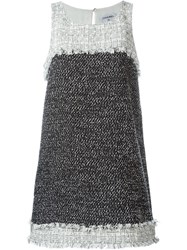 Chanel Vintage Boucle Short Dress Black