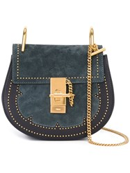 Chloe Studded 'Drew' Shoulder Bag Blue