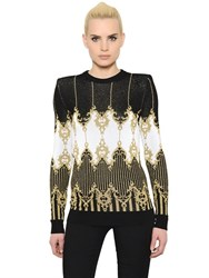 Balmain Jacquard Knit Sweater