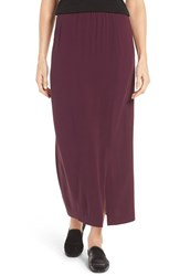 Eileen Fisher Women's Full Length Silk Georgette Crepe Skirt Raisonette