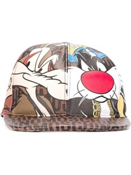 Moschino Sylvester And Tweety Print Cap Brown