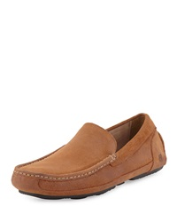 Andrew Marc New York Andrew Marc Empire Suede Slip On Driver Tan