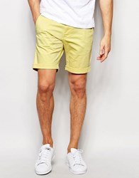 Selected Homme Chino Shorts Yellow
