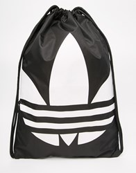 Adidas Originals Drawstring Backpack In Black Black