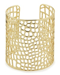 Lydell Nyc Golden Laser Cut Cuff Bracelet
