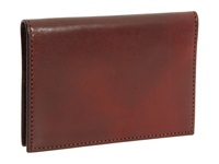 Bosca Old Leather Collection Calling Card Case Cognac Leather Credit Card Wallet Brown