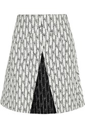 Roland Mouret Aven Tweed Mini Skirt White