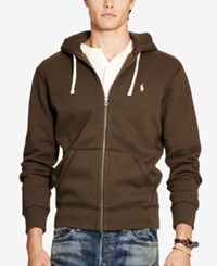 Polo Ralph Lauren Men's Zip Up Hoodie Brown