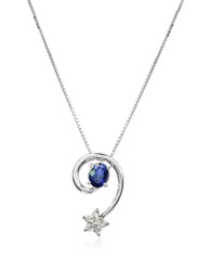 Incanto Royale Sapphires And Diamond Star 18K Gold Pendant Necklace Silver