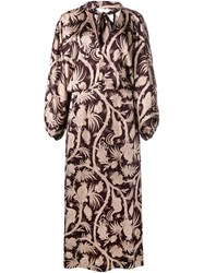 Zimmermann Floral Oversized Gown Brown