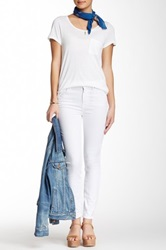 7 For All Mankind The High Waisted Ankle Skinny Jean White
