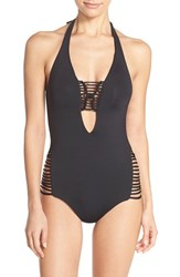 Women's Becca 'Over The Shoulder' One Piece Swimsuit Black