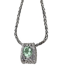 Effy Balissima Green Amethyst Necklace Set In Sterling Silver