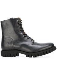 Diesel 'D Depp' Lace Up Boots Black