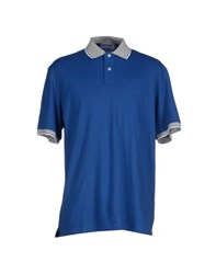 Lorenzo Uomo Topwear Polo Shirts Men Blue