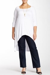24 7 Comfort Long Sleeve Hi Lo Tunic Plus Size White