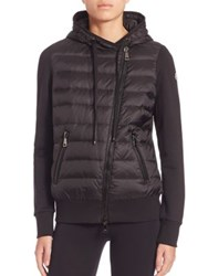 Moncler Maglia Quilted Hoodie Black