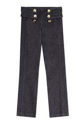 Roberto Cavalli Straight Leg Jeans With Statement Buttons Black