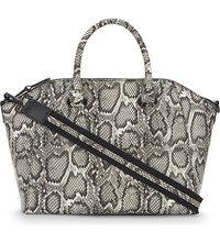 Aldo Casateia Snakeskin Textured Satchel Black Miscellaneous