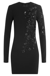 Dsquared2 Sequin Embellished Dress With Virgin Wool Black
